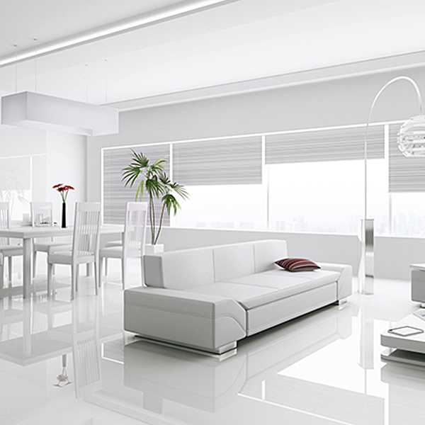 Kronotex Gloss White Laminate Tiles  Factory Direct Flooring
