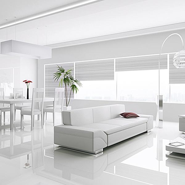 Kronotex Gloss White Laminate Tiles - Factory Direct Flooring