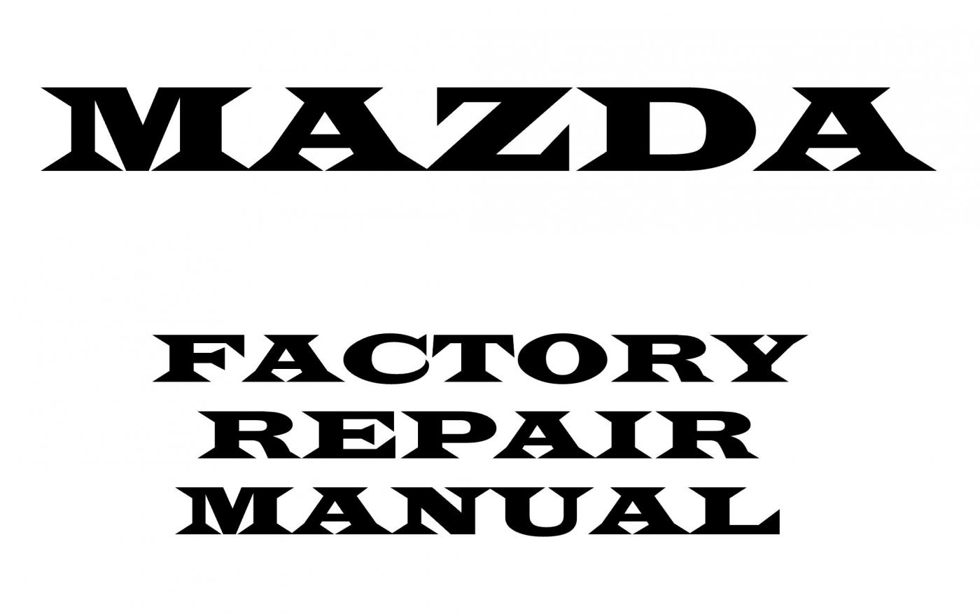 Mazda B SERIES 2007 2008 repair manual