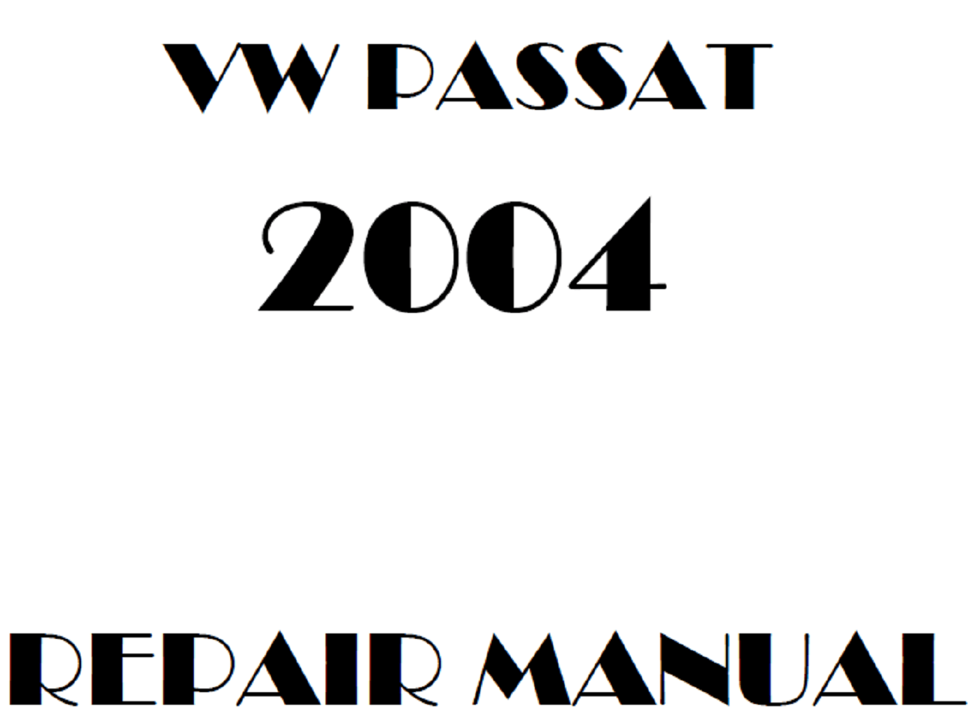 2004 Volkswagen Passat repair manual