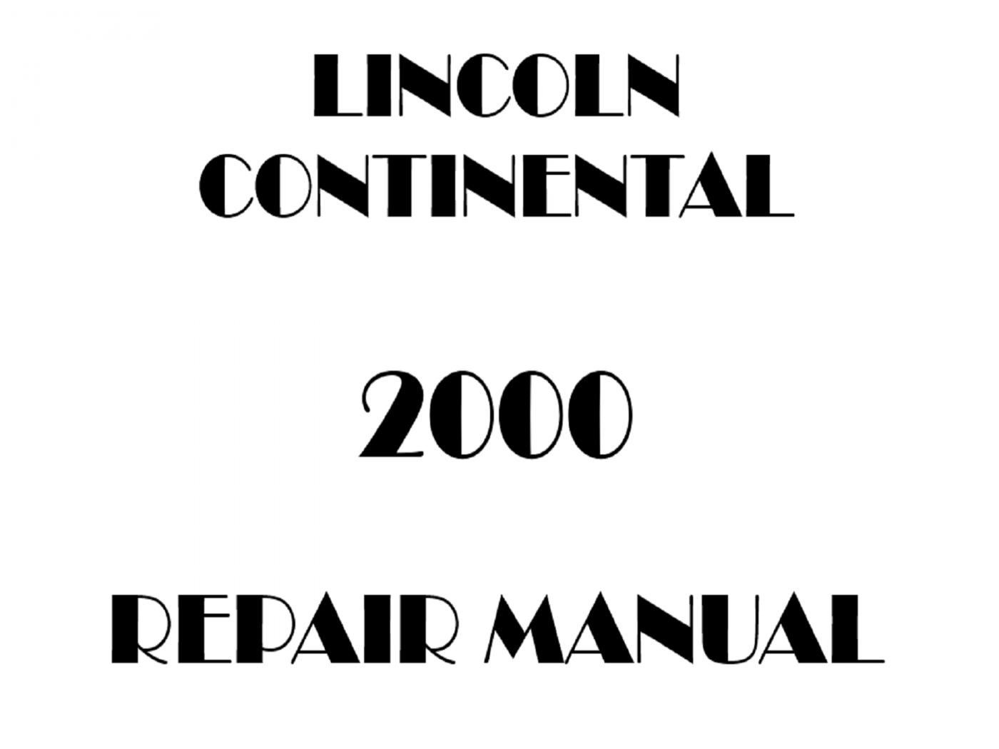 2000 Lincoln Continental repair manual
