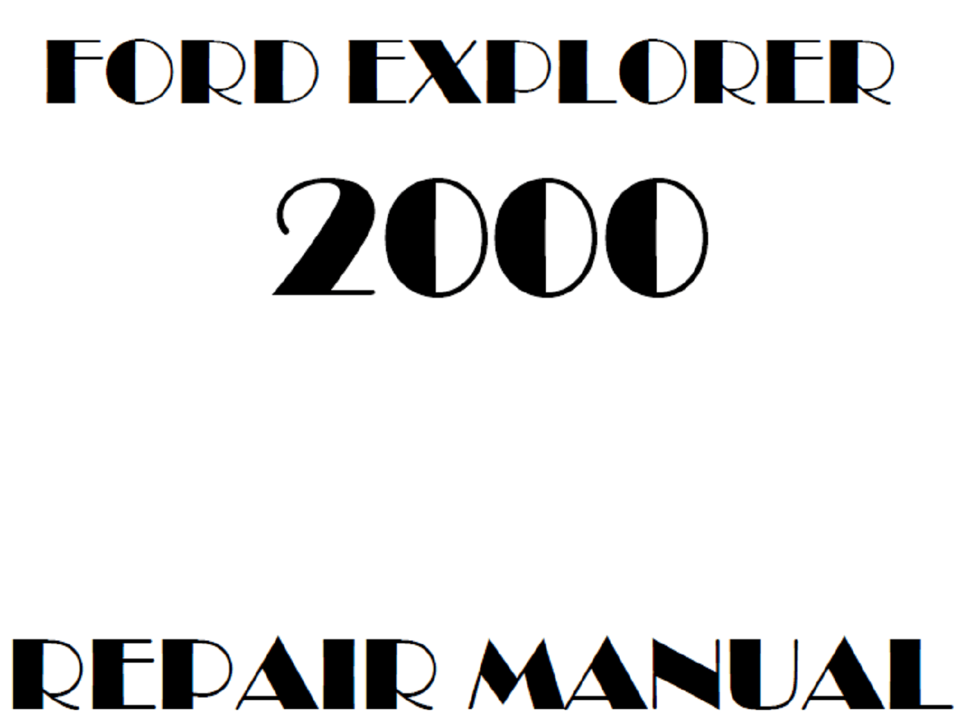 2000 Ford Explorer repair manual