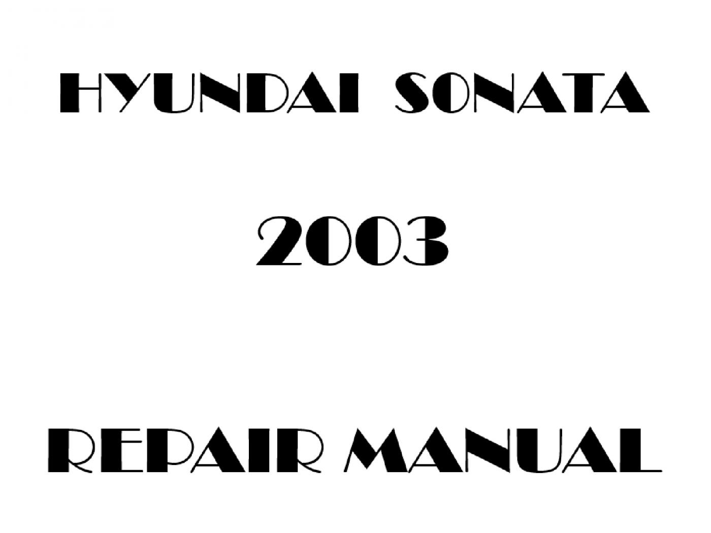 2003 Hyundai Sonata repair manual