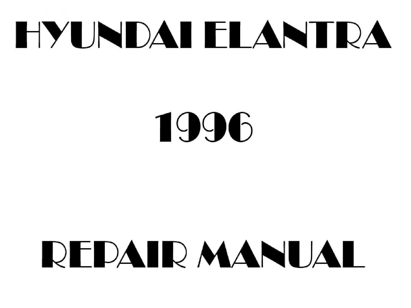 1996 Hyundai Elantra repair manual
