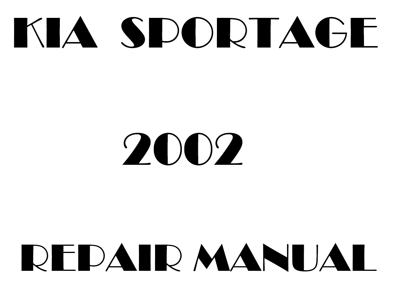 2002 Kia Sportage repair manual