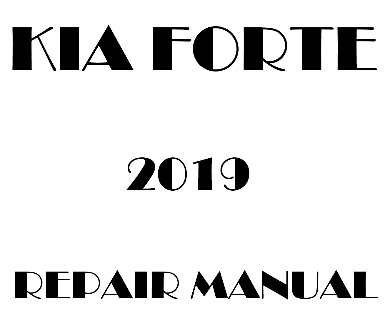 2019 Kia Forte repair manual
