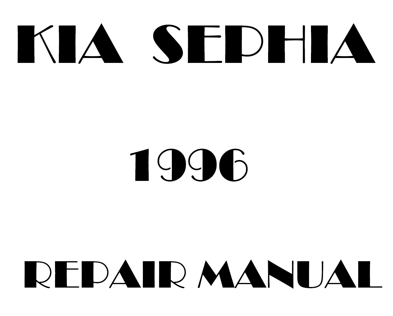 1996 Kia Sephia repair manual