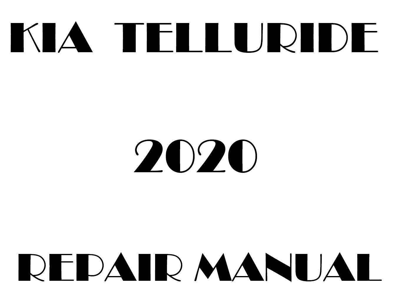 2020 Kia Telluride factory repair manual