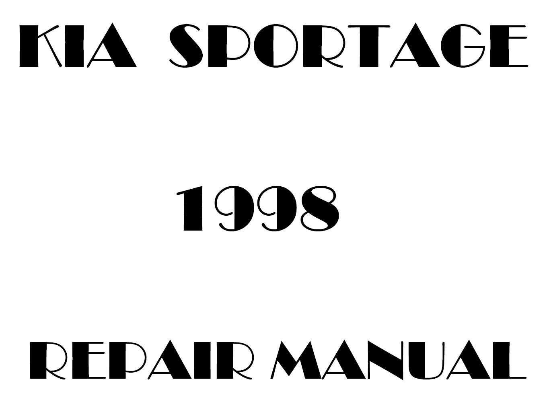 1998 Kia Sportage repair manual