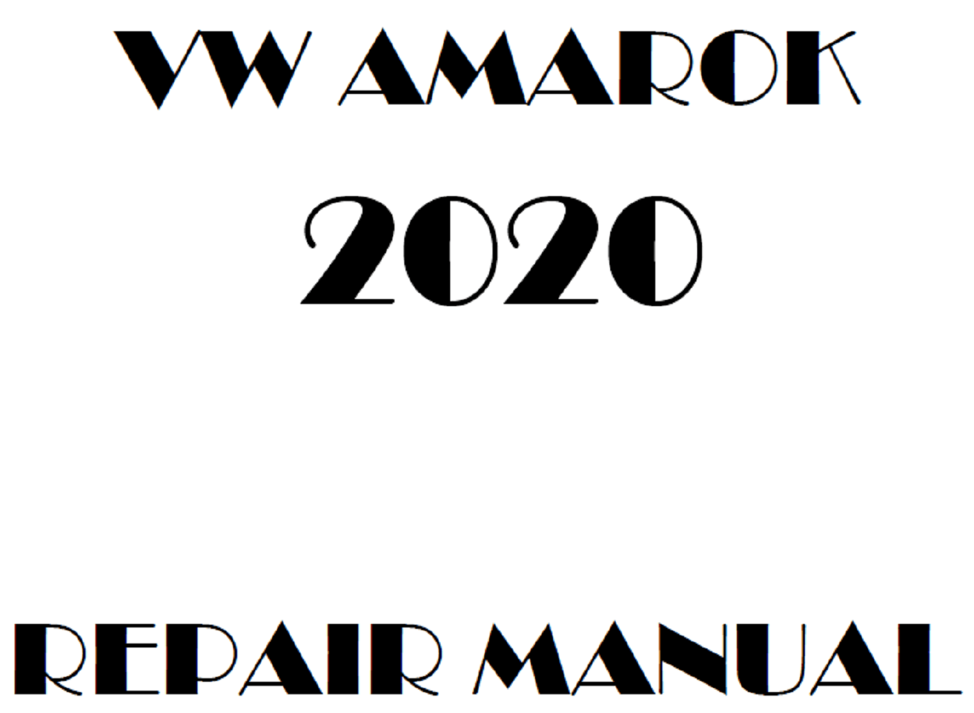 2020 Volkswagen Amarok repair manual