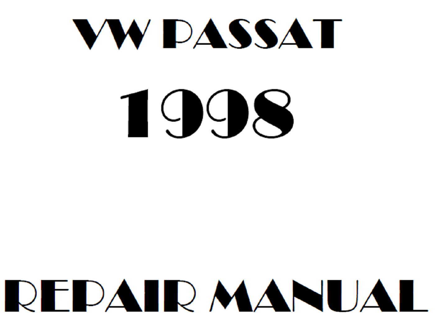 1998 Volkswagen Passat repair manual