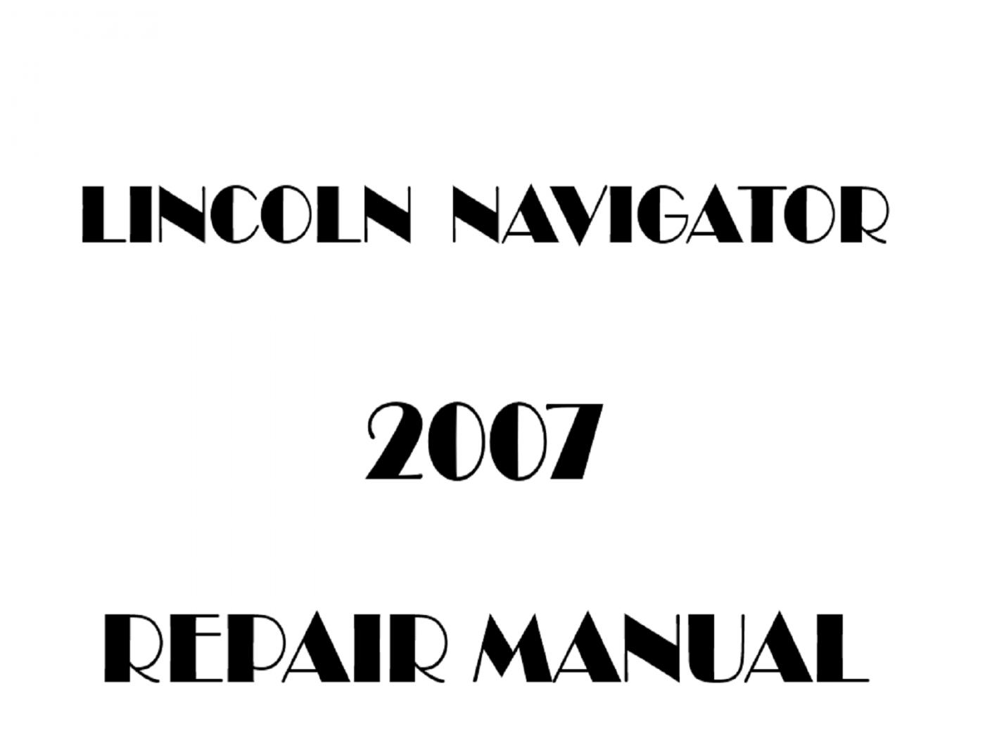 2007 Lincoln Navigator repair manual