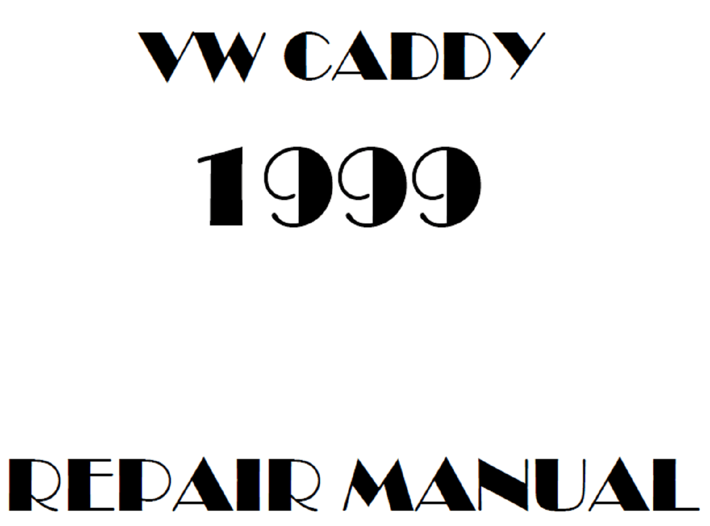 1999 Volkswagen Caddy repair manual