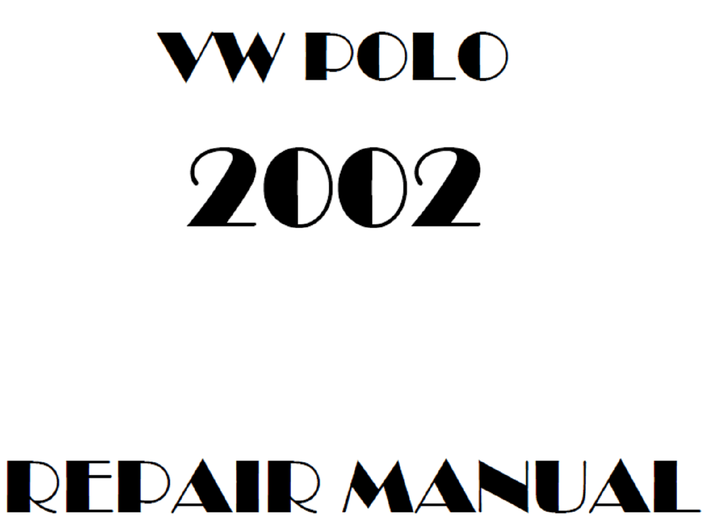 2002 Volkswagen Polo repair manual