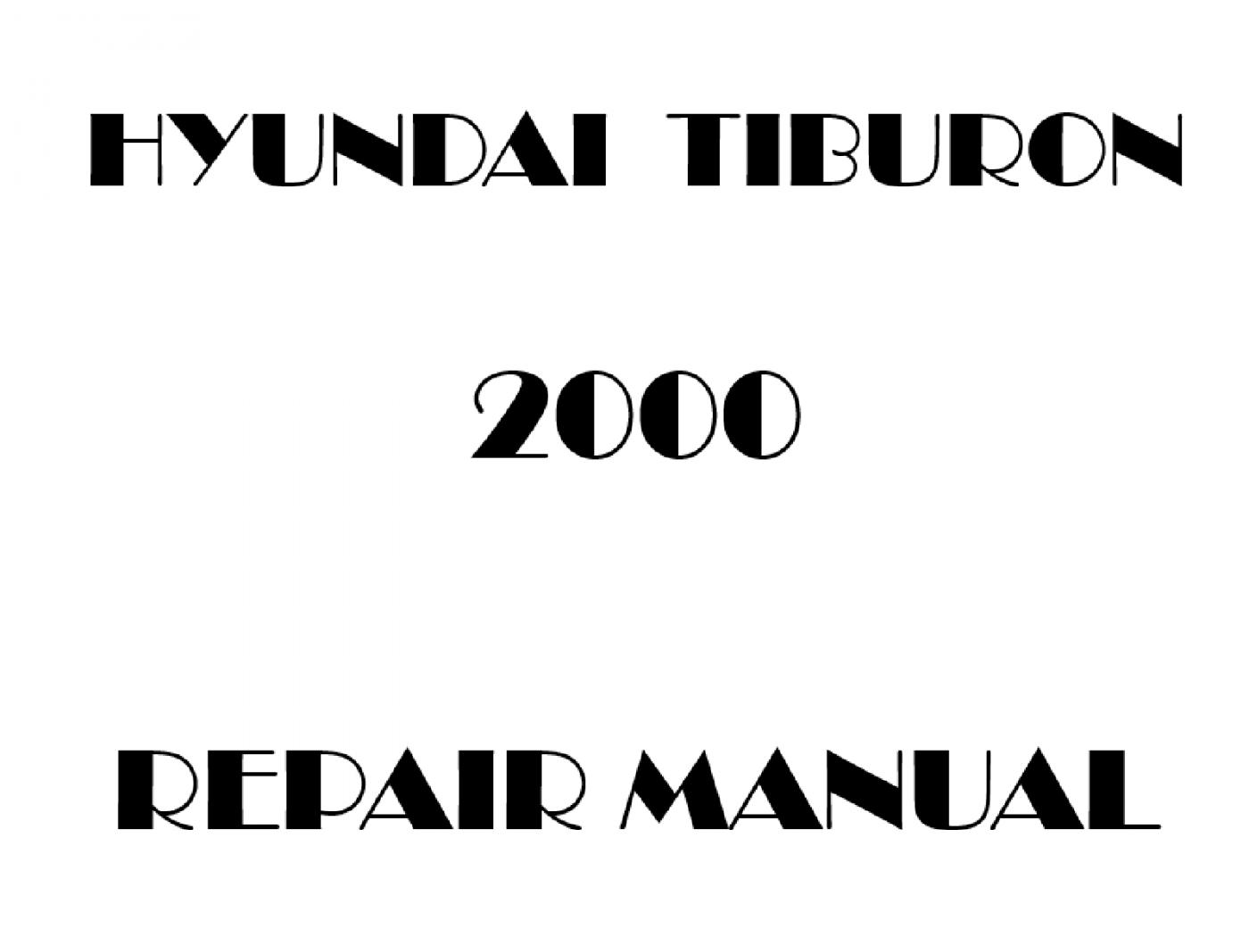 2000 Hyundai Tiburon repair manual