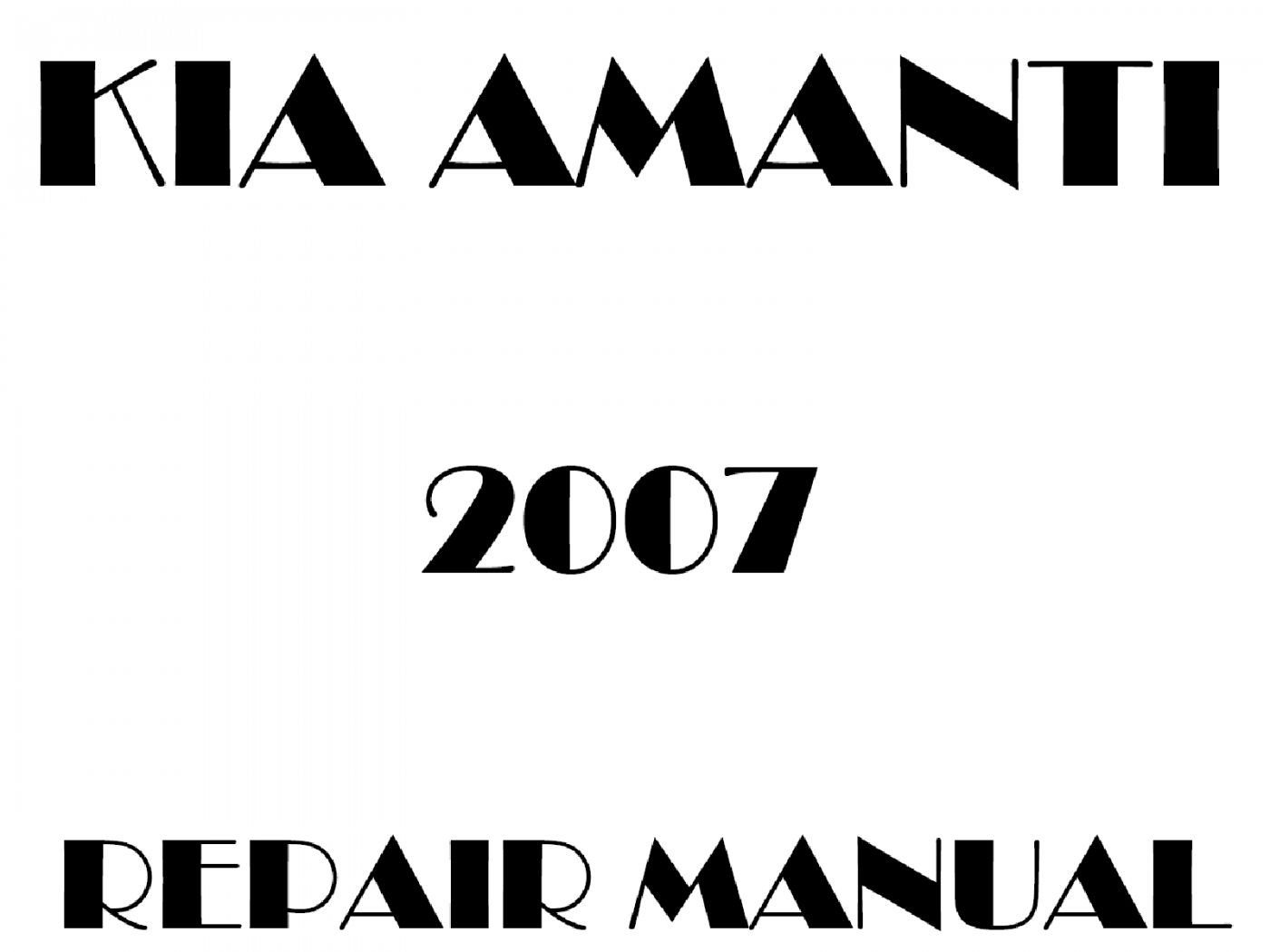 2007 Kia Amanti repair manual
