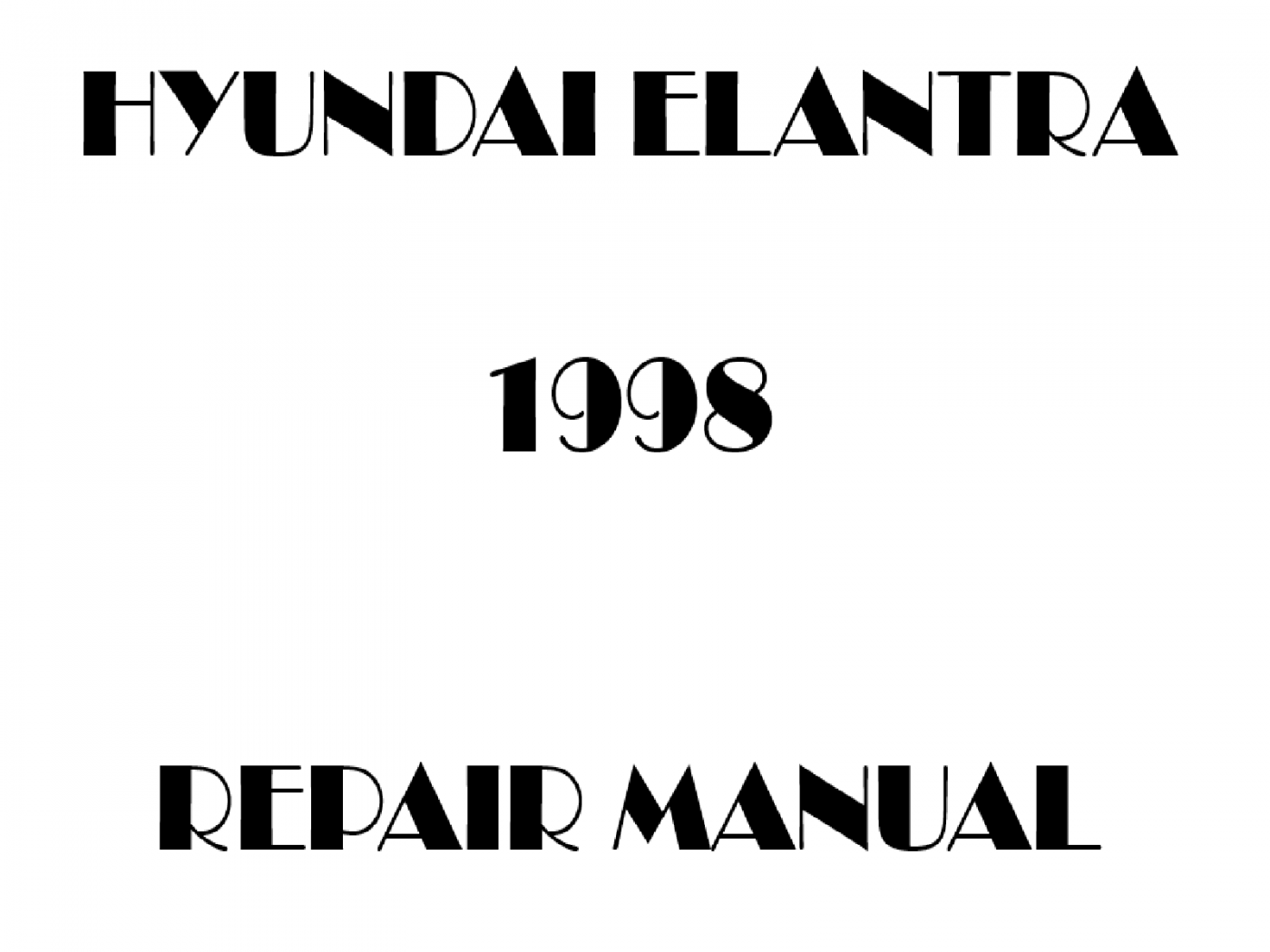 1998 Hyundai Elantra repair manual
