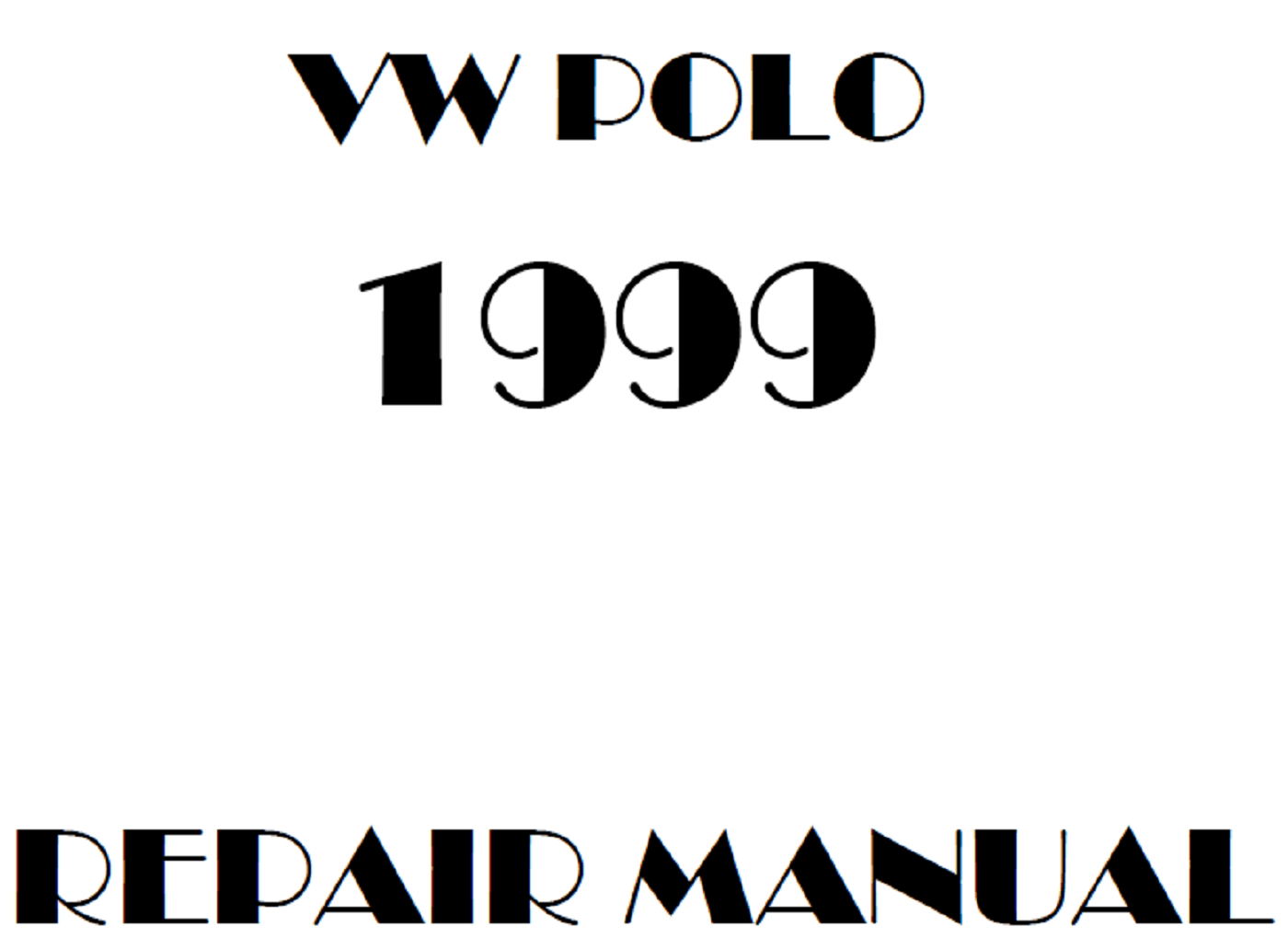 1999 Volkswagen Polo repair manual