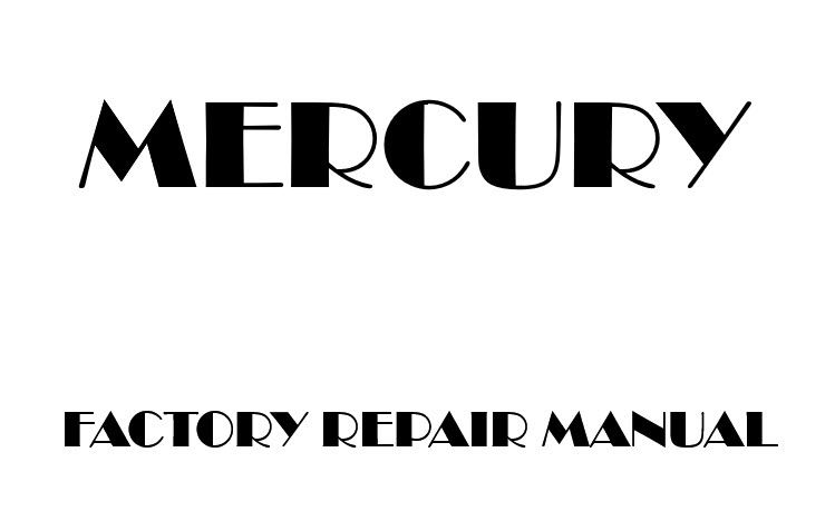 Mercury Mariner 2008-2011 factory repair manual