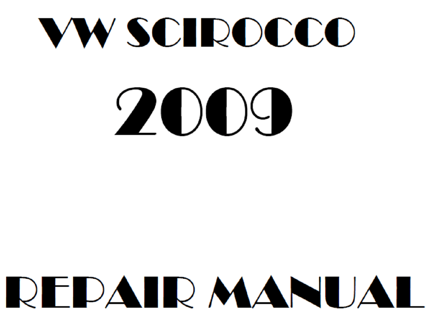 2009 Volkswagen Scirocco repair manual