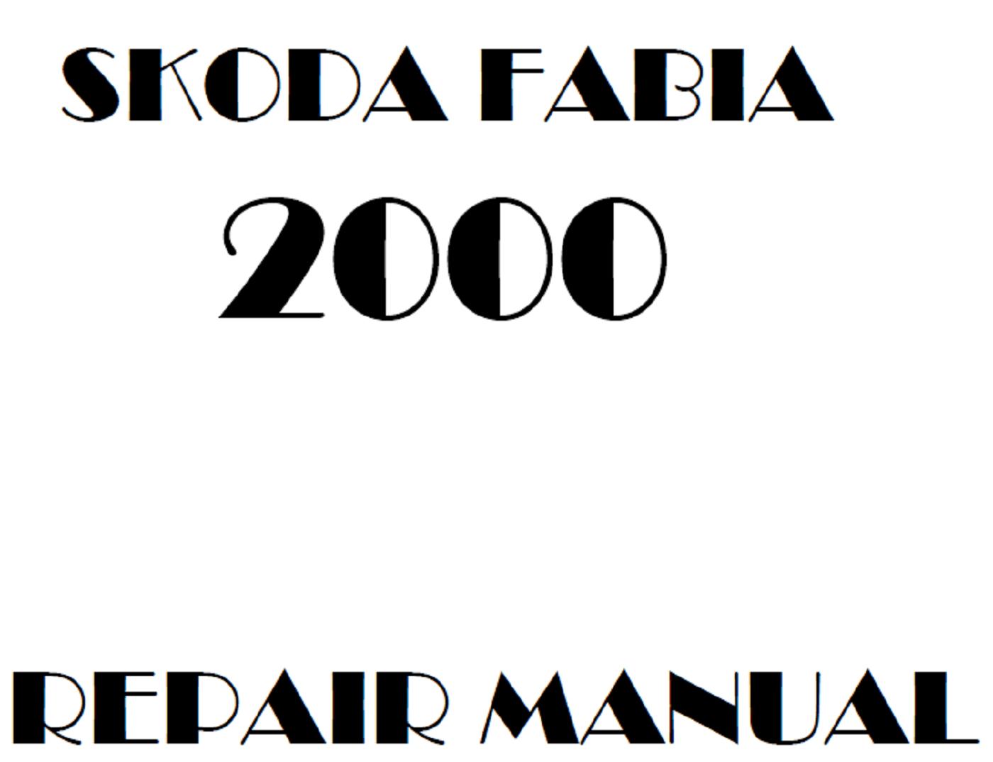 2000 Skoda Fabia repair manual