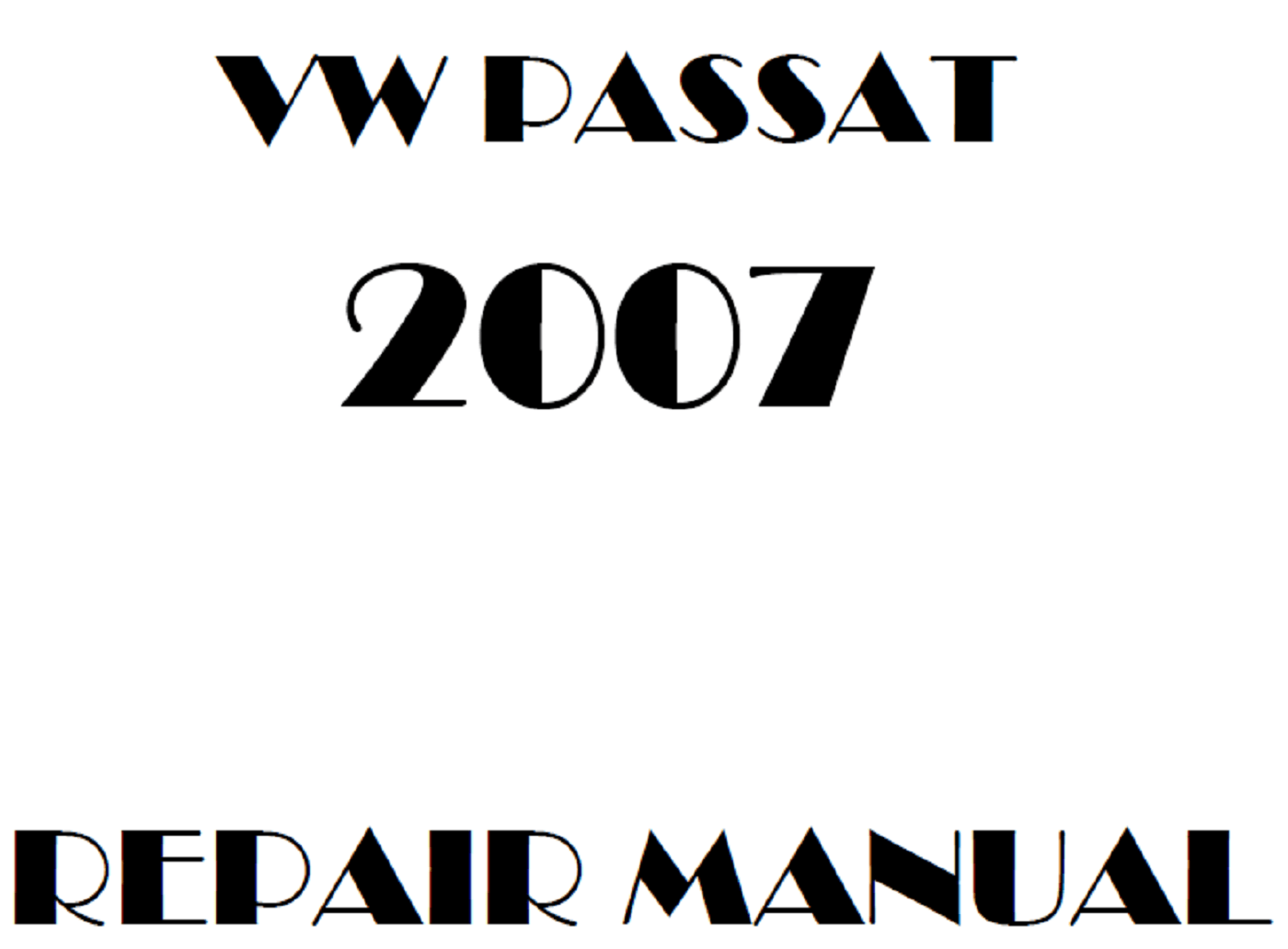 2007 Volkswagen Passat repair manual