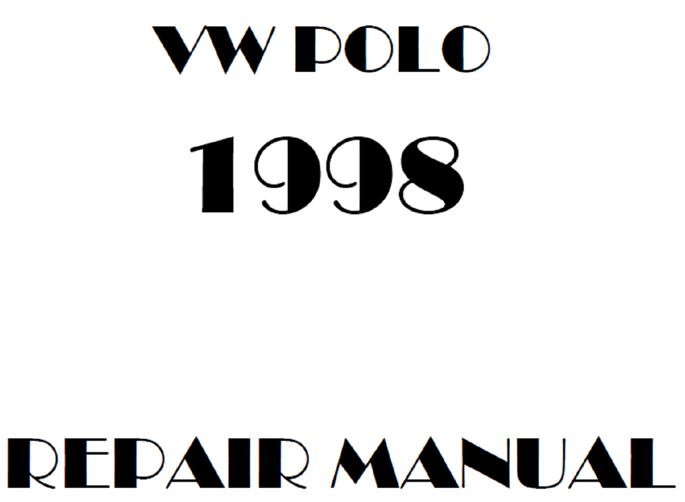 1998 Volkswagen Polo repair manual
