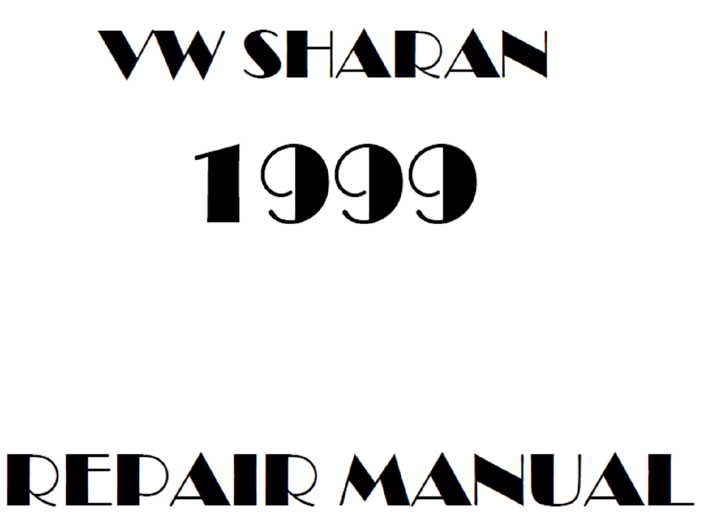 1999 Volkswagen Sharan repair manual