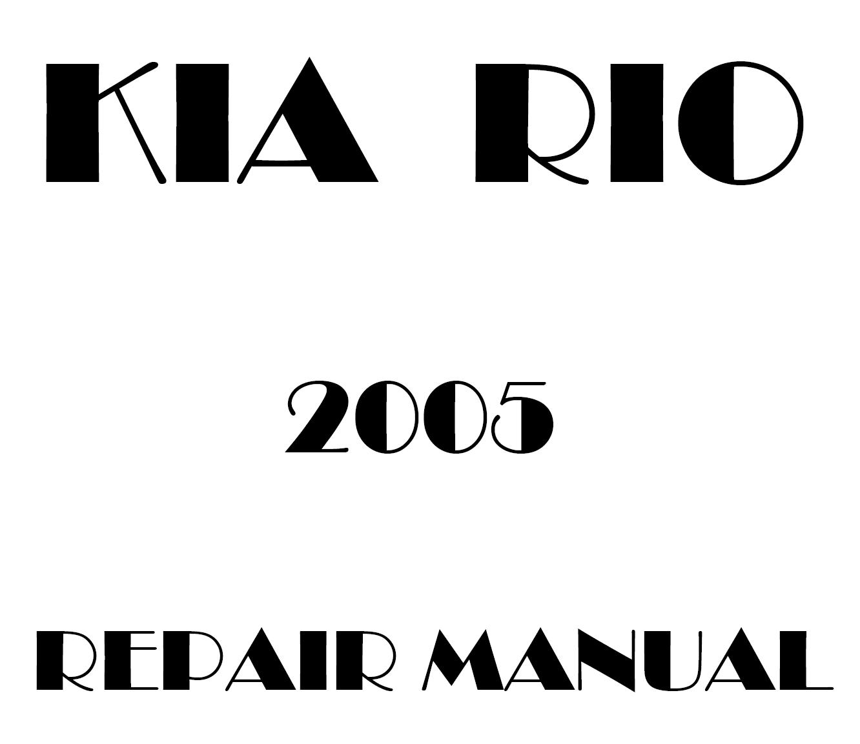 2005 Kia Rio repair manual