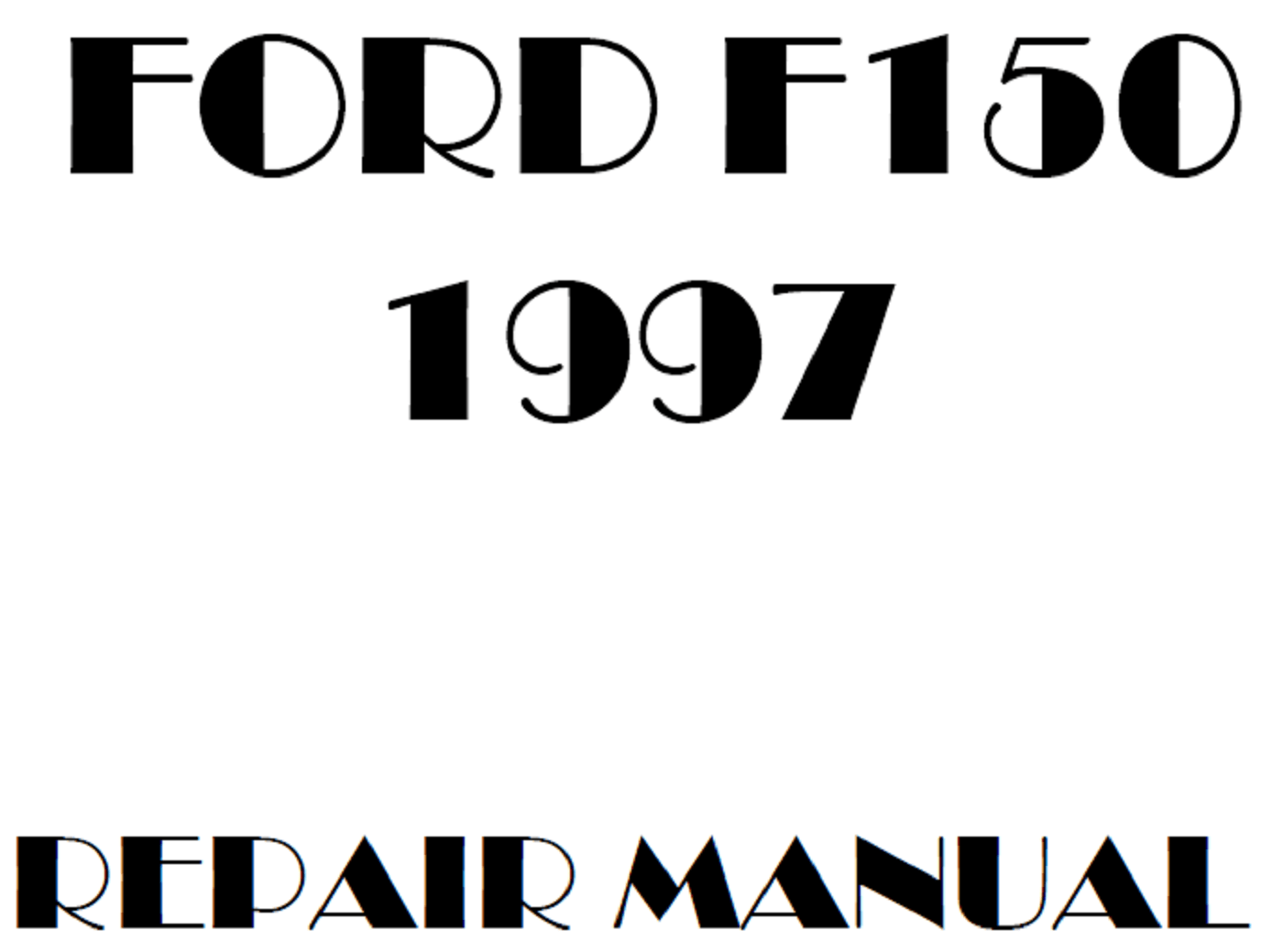 1997 Ford F150 repair manual