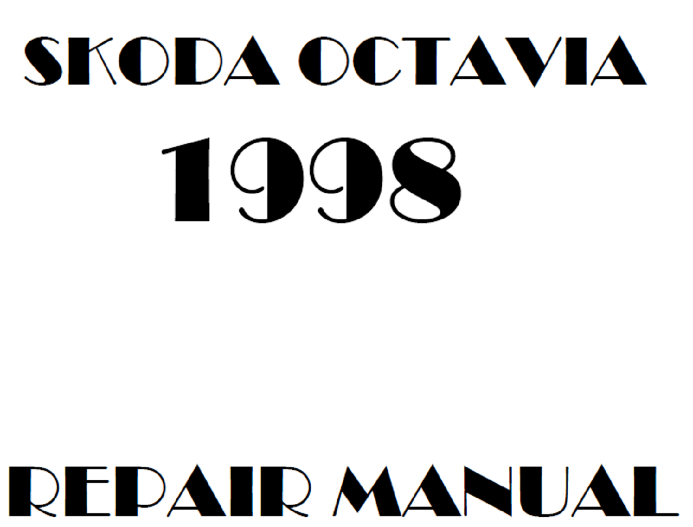 1998 Skoda Octavia repair manual