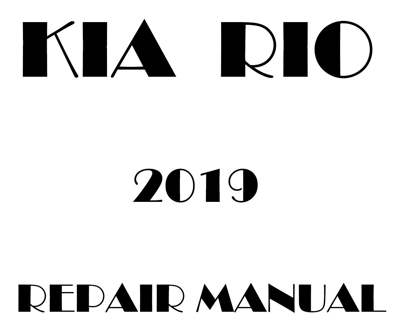 2019 Kia Rio factory repair manual