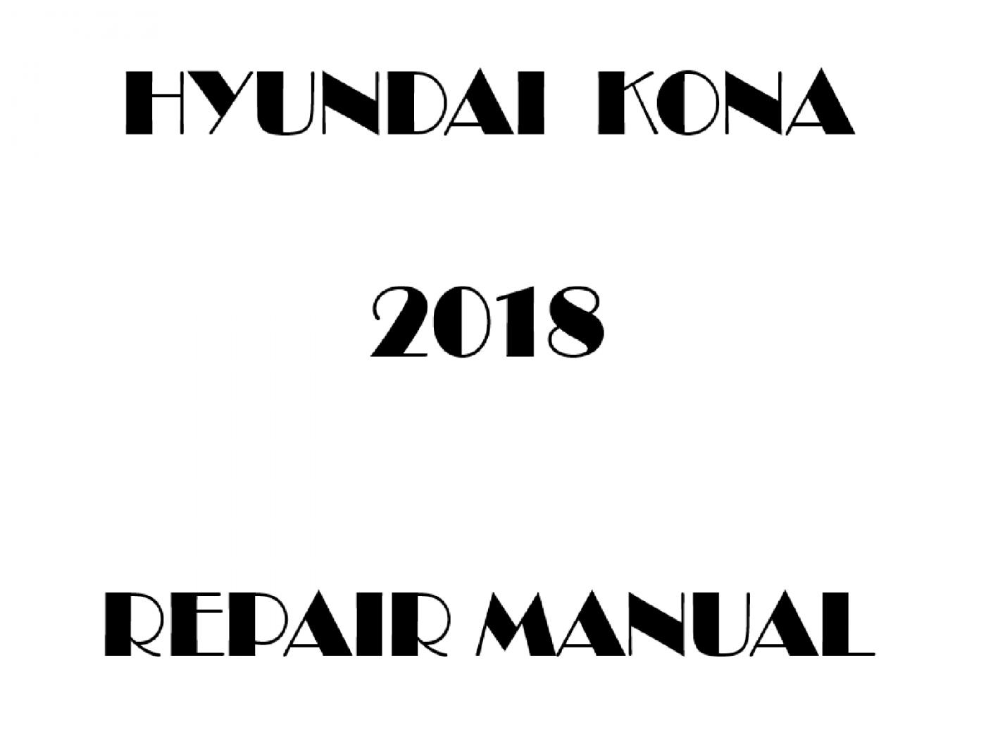 2018 Hyundai KONA repair manual