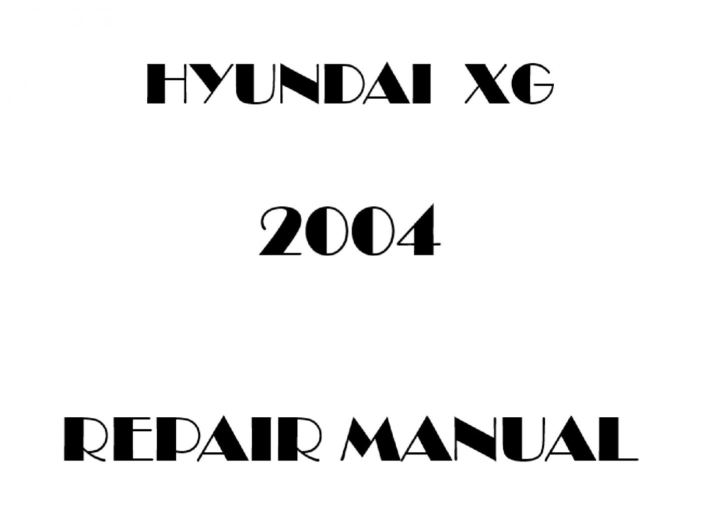 2004 Hyundai XG repair manual