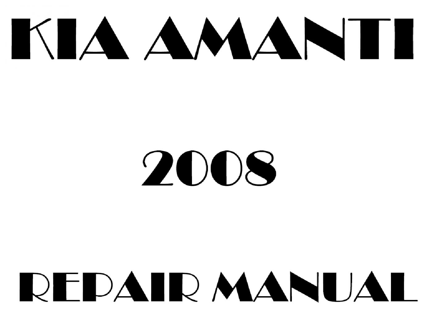 2008 Kia Amanti repair manual