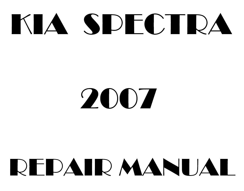 2007 Kia Spectra repair manual