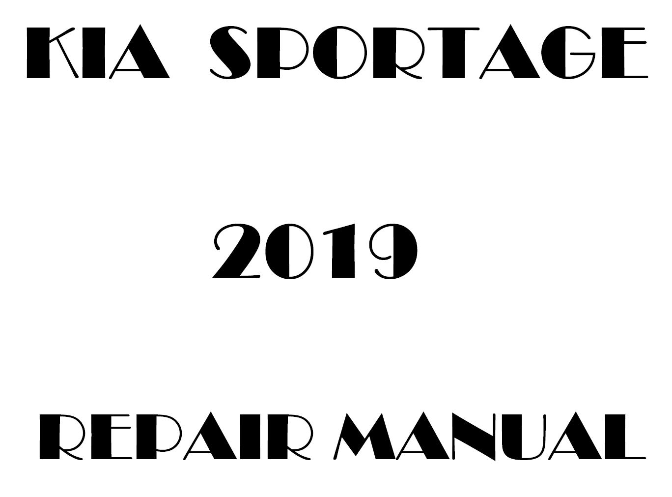 2019 Kia Sportage repair manual