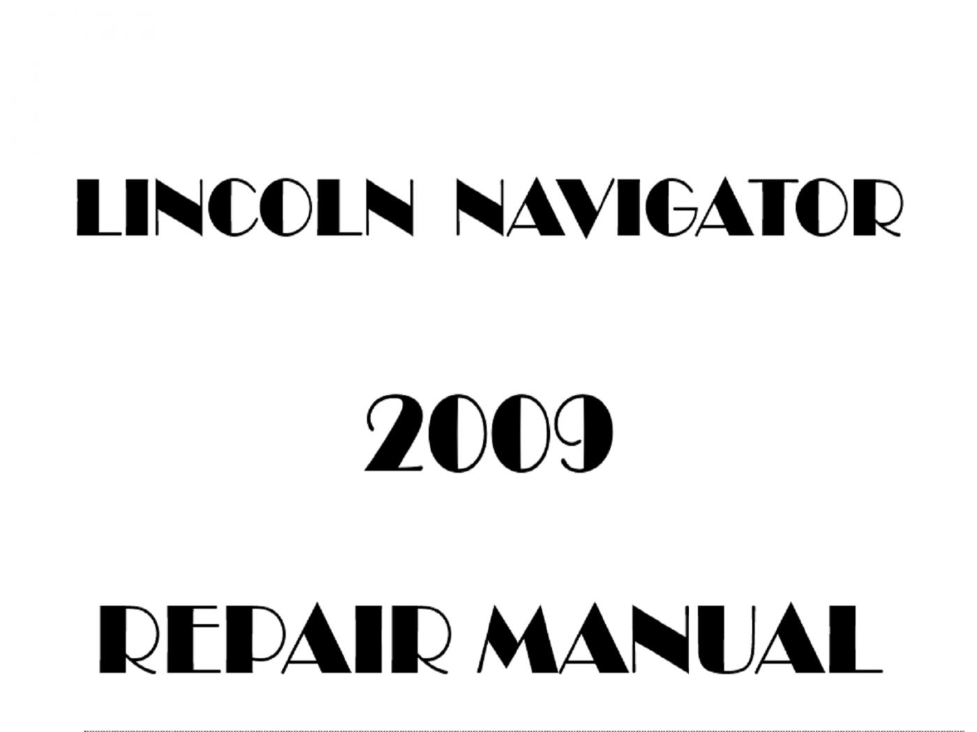 2009 Lincoln Navigator repair manual