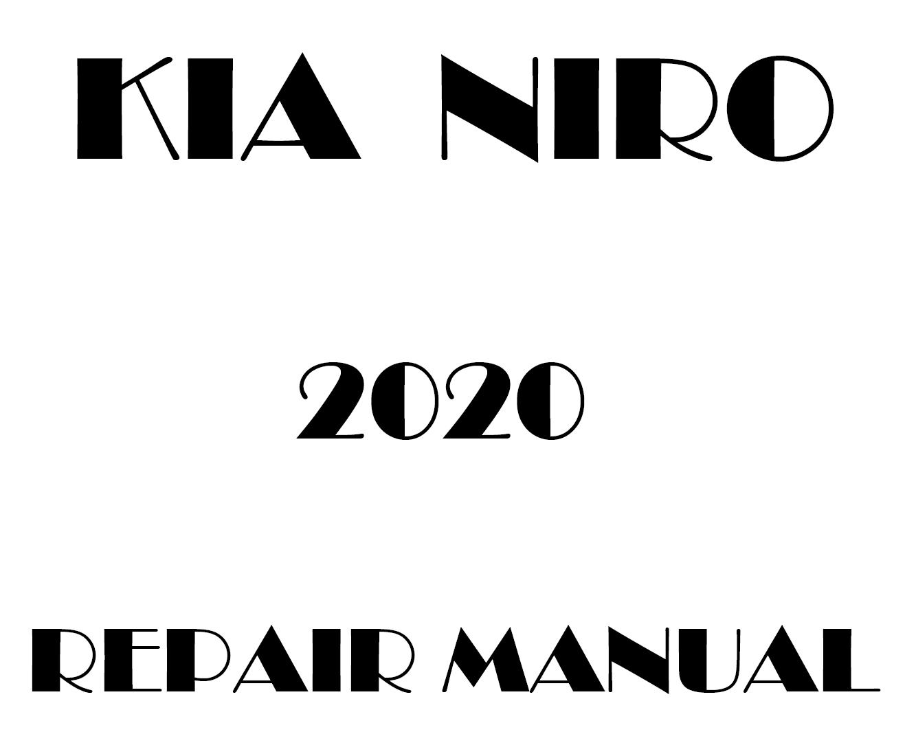 2020 Kia Niro factory repair manual