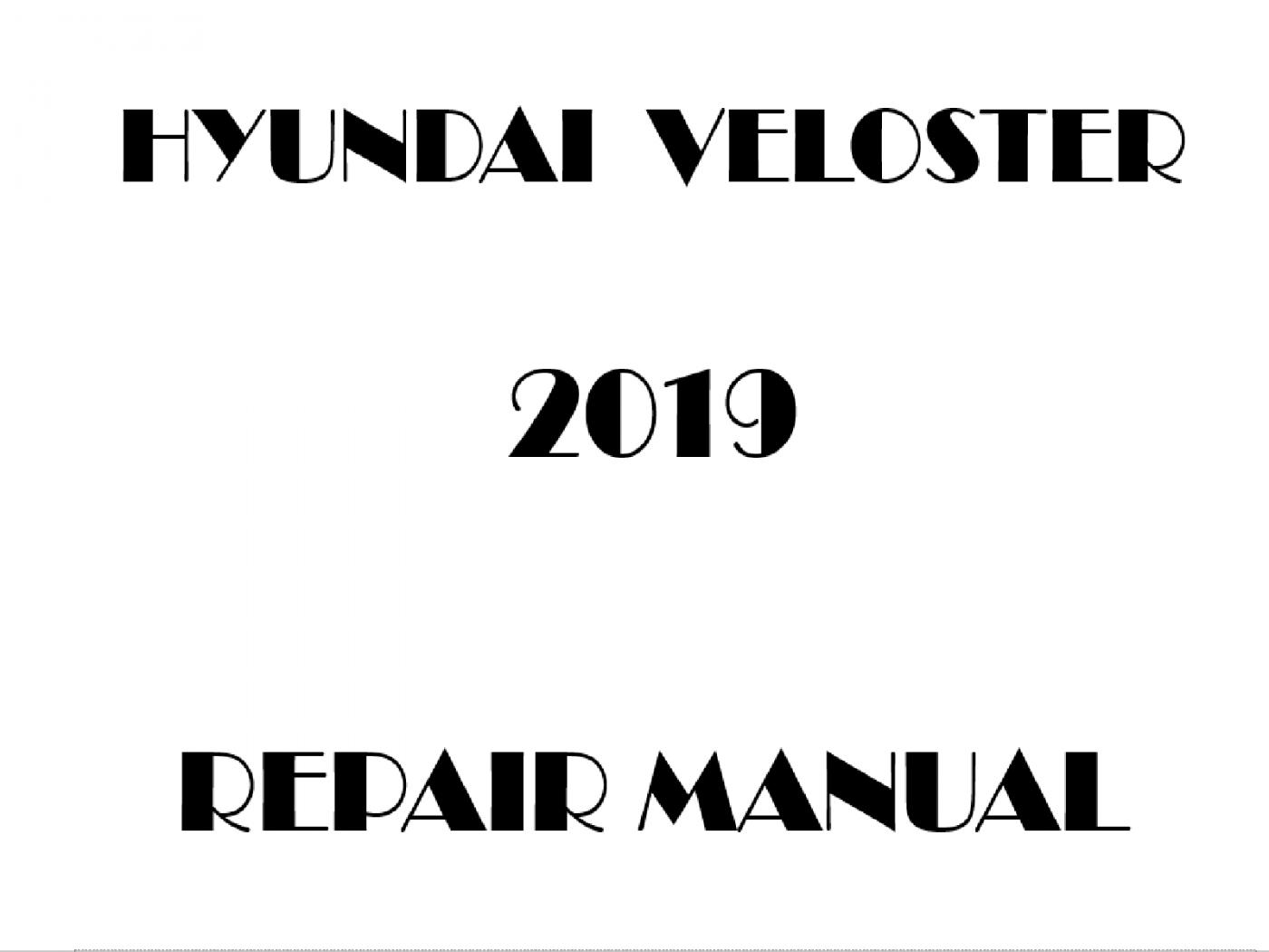 2019 Hyundai Veloster repair manual