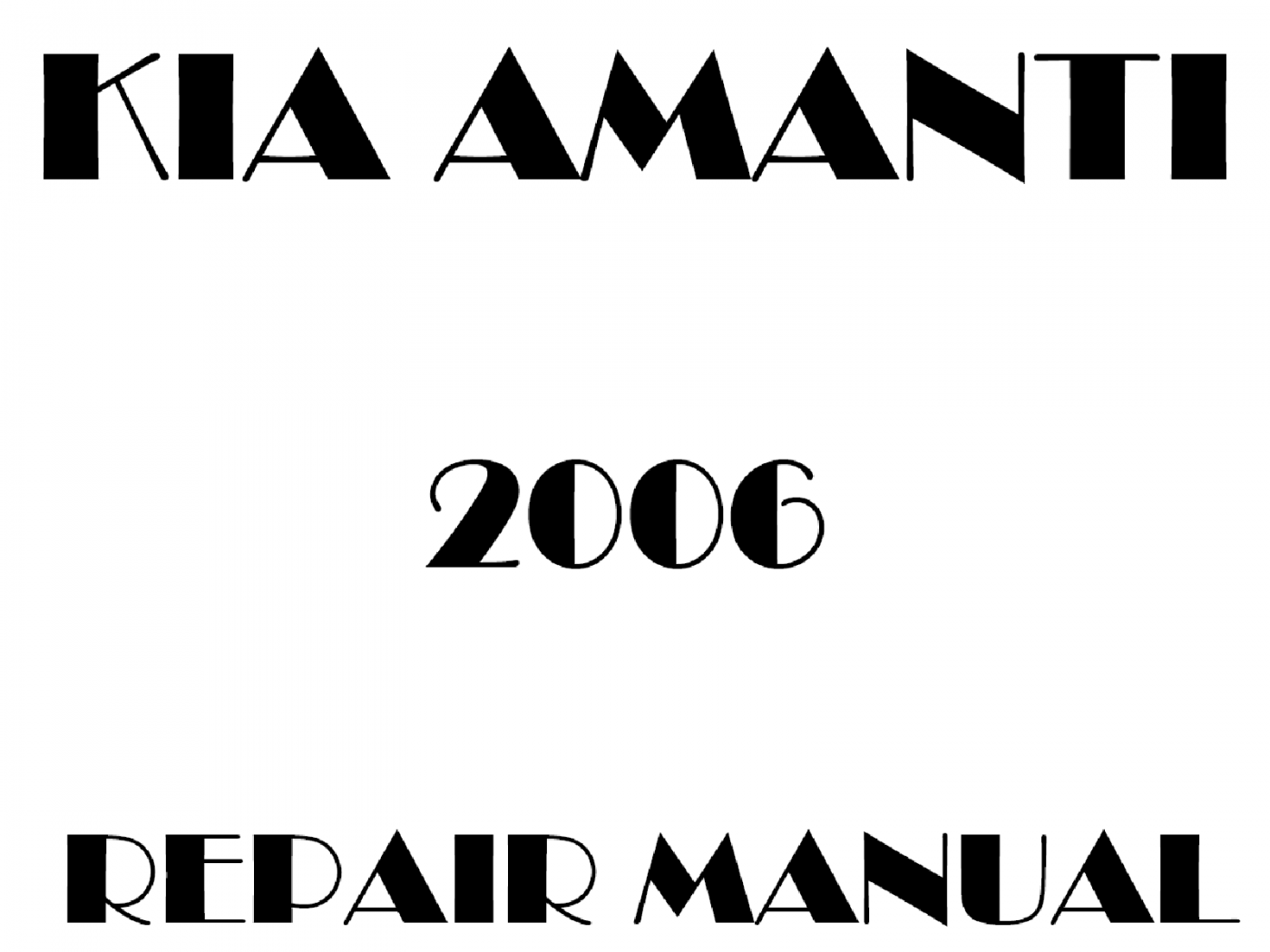 2006 Kia Amanti repair manual