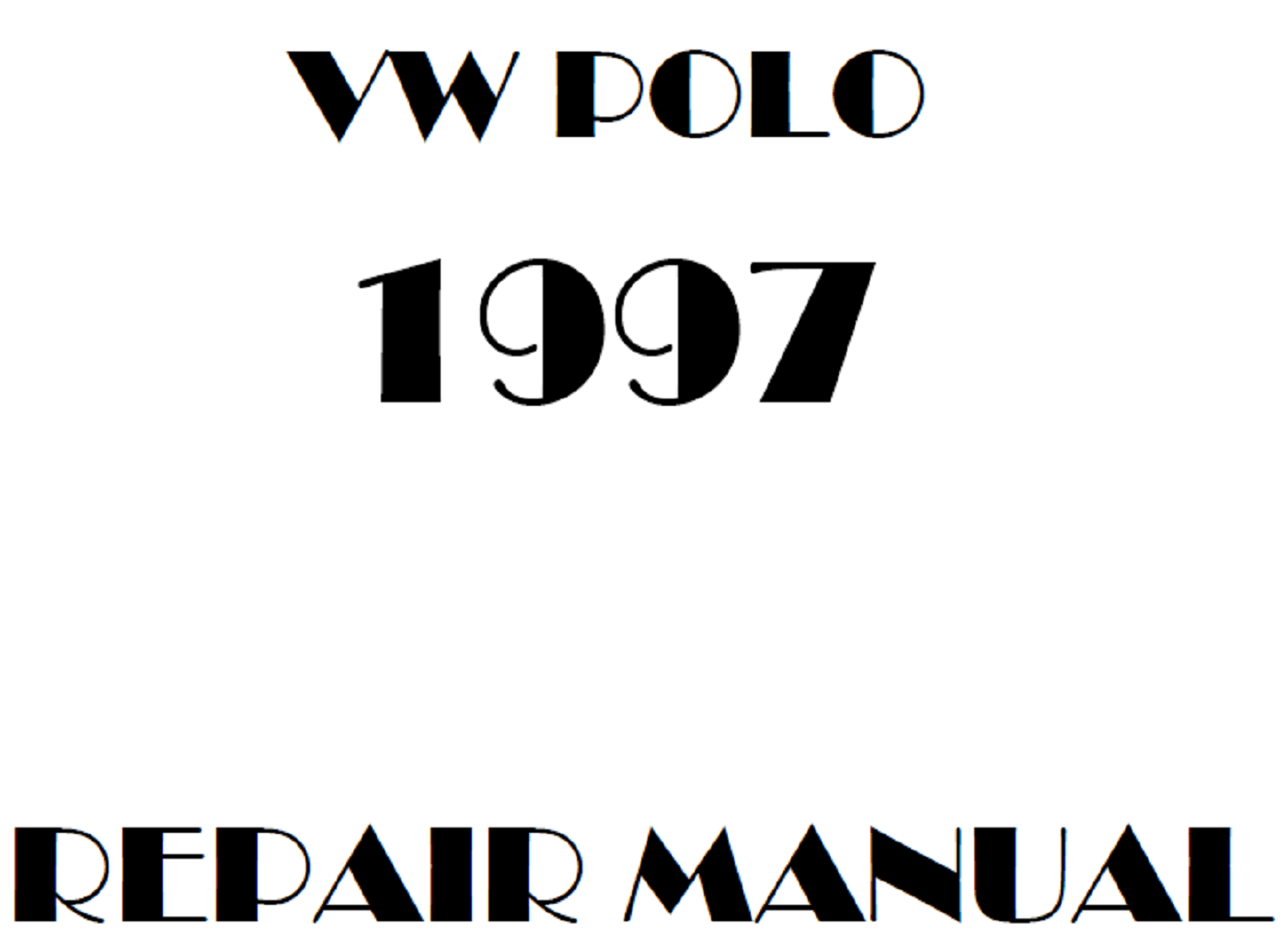 1997 Volkswagen Polo repair manual
