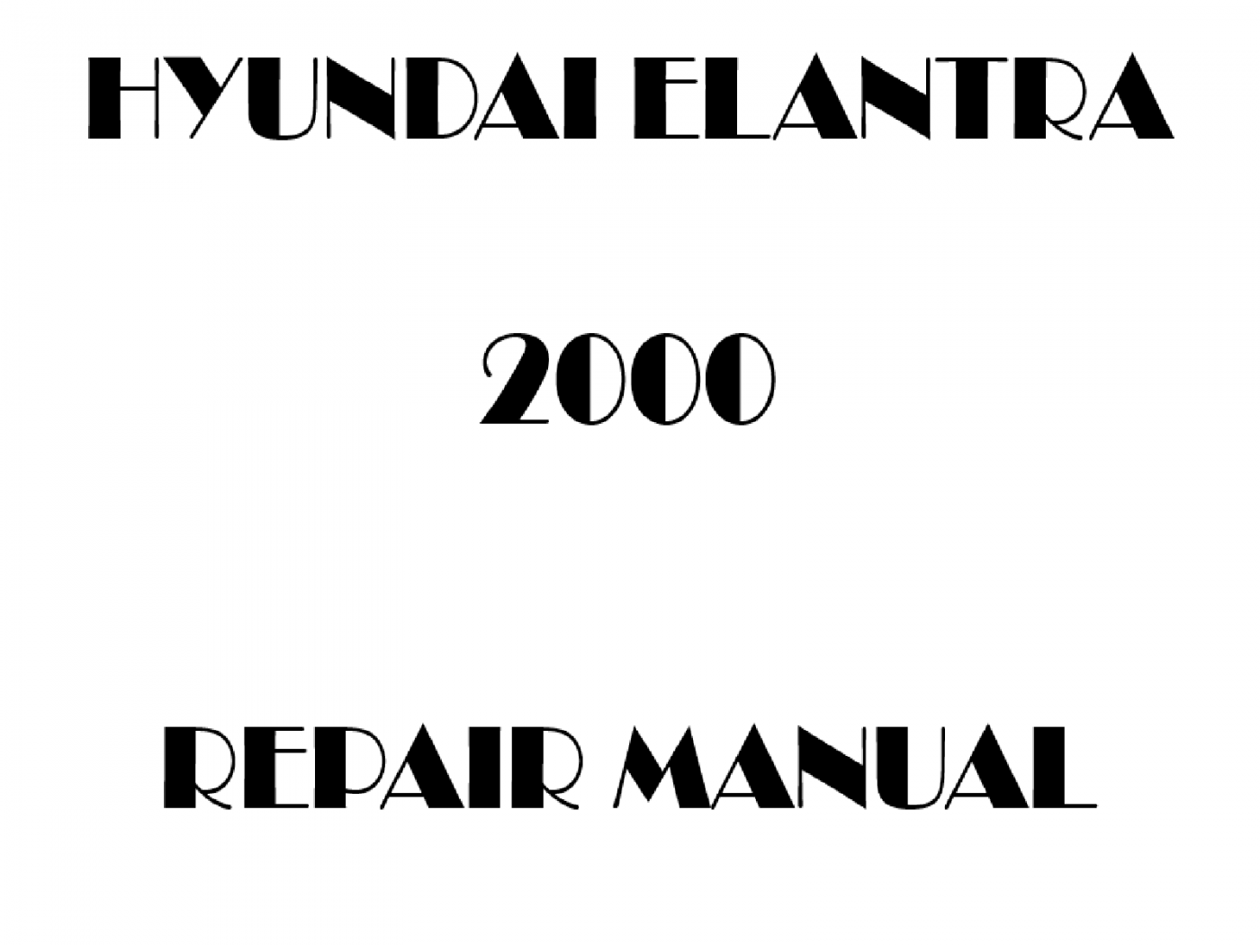 2000 Hyundai Elantra repair manual