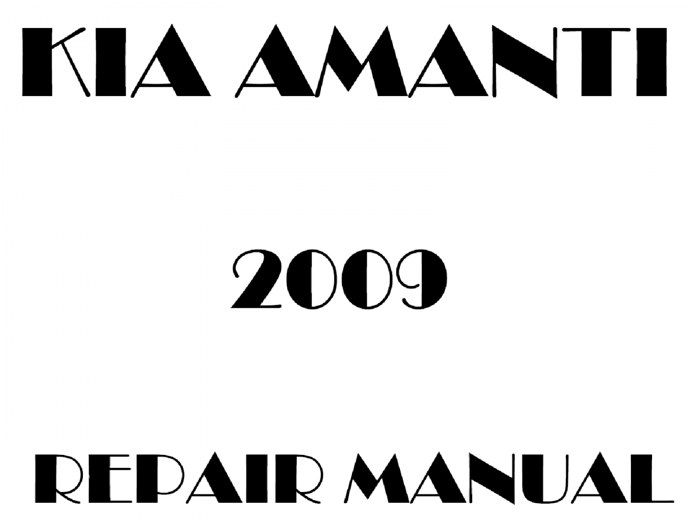 2009 Kia Amanti repair manual