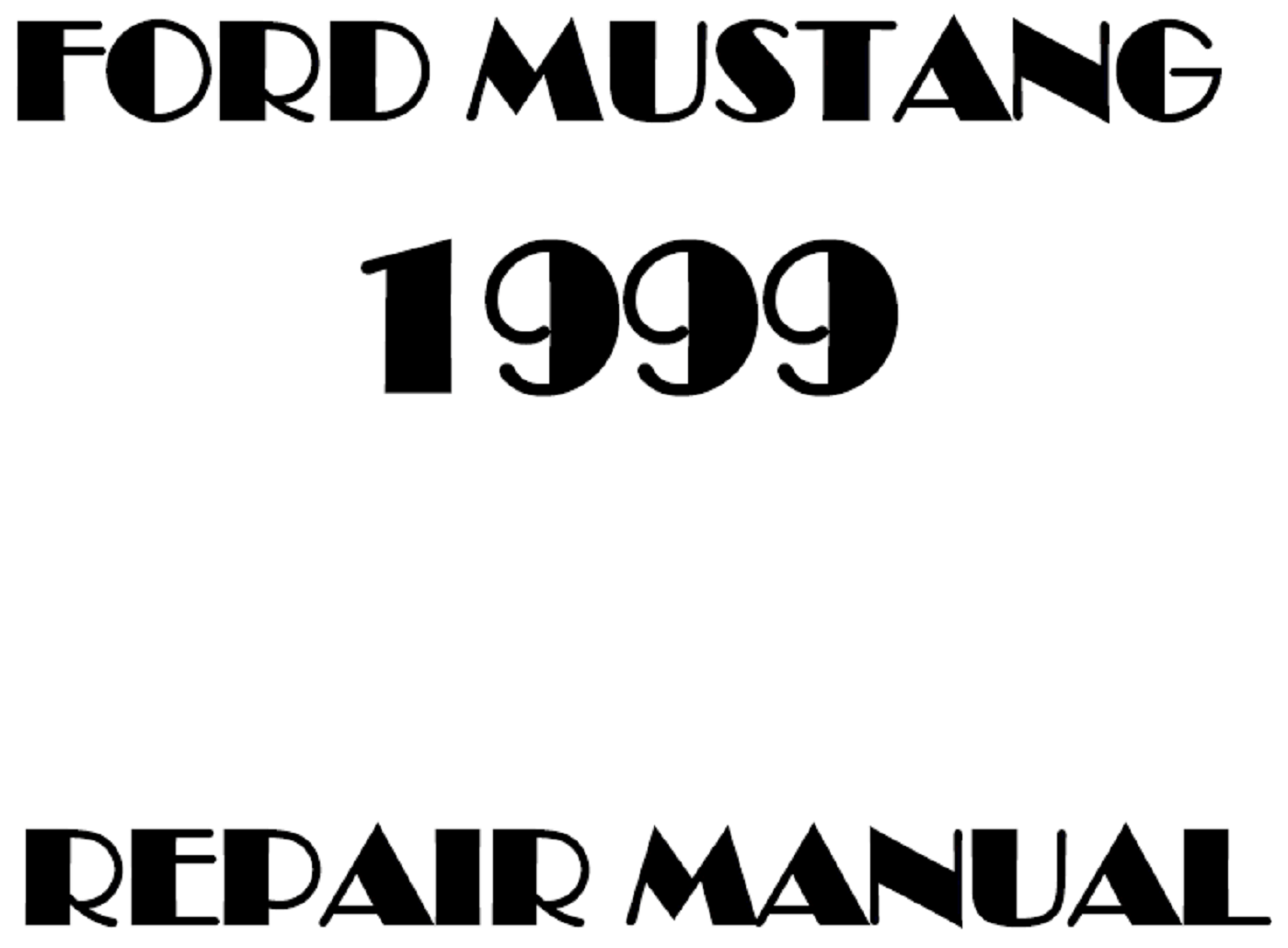 1999 Ford Mustang repair manual