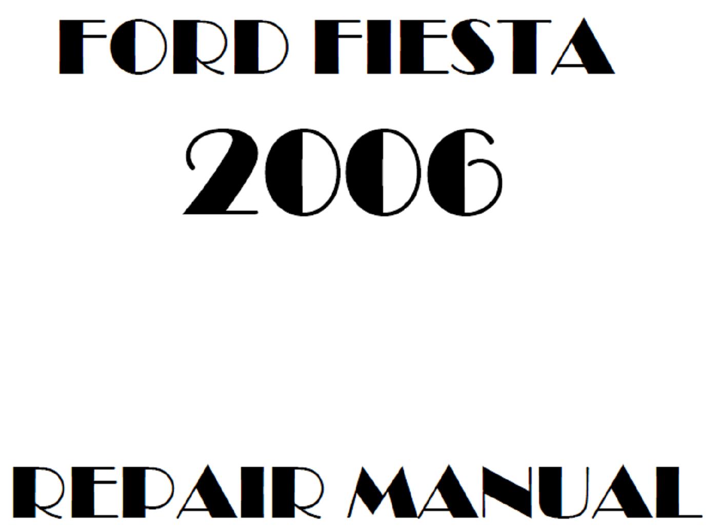 2006 Ford Fiesta repair manual