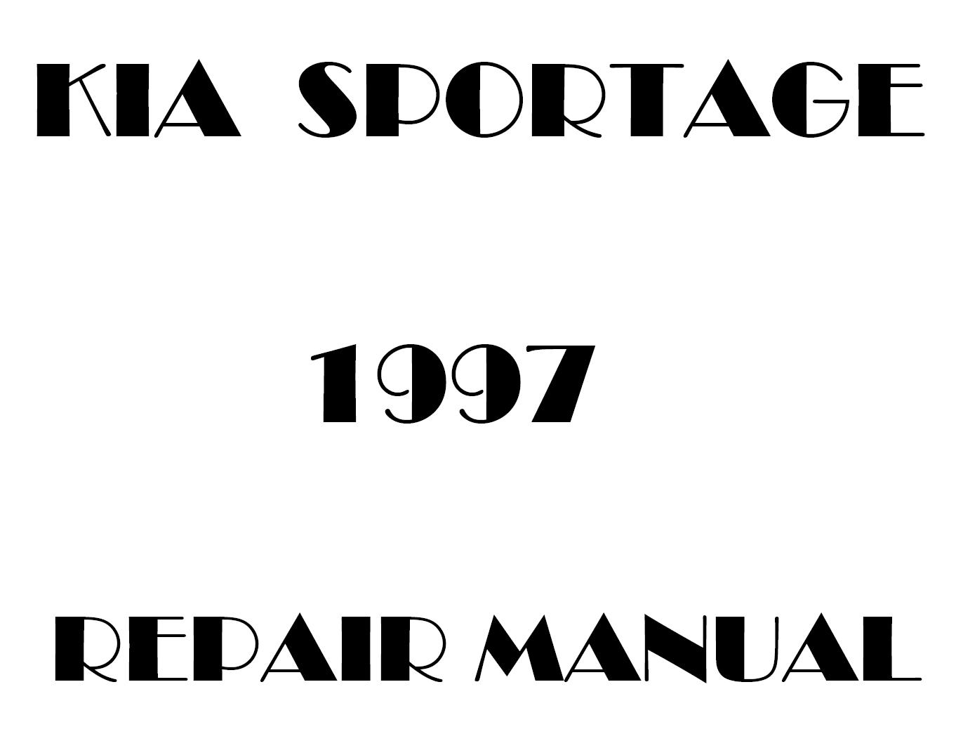 1997 Kia Sportage repair manual