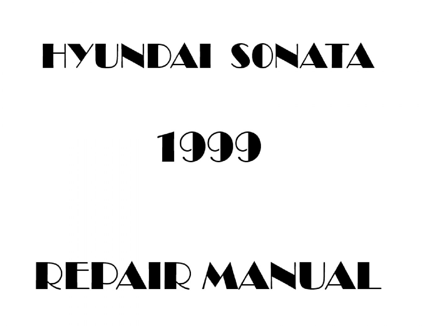 1999 Hyundai Sonata repair manual