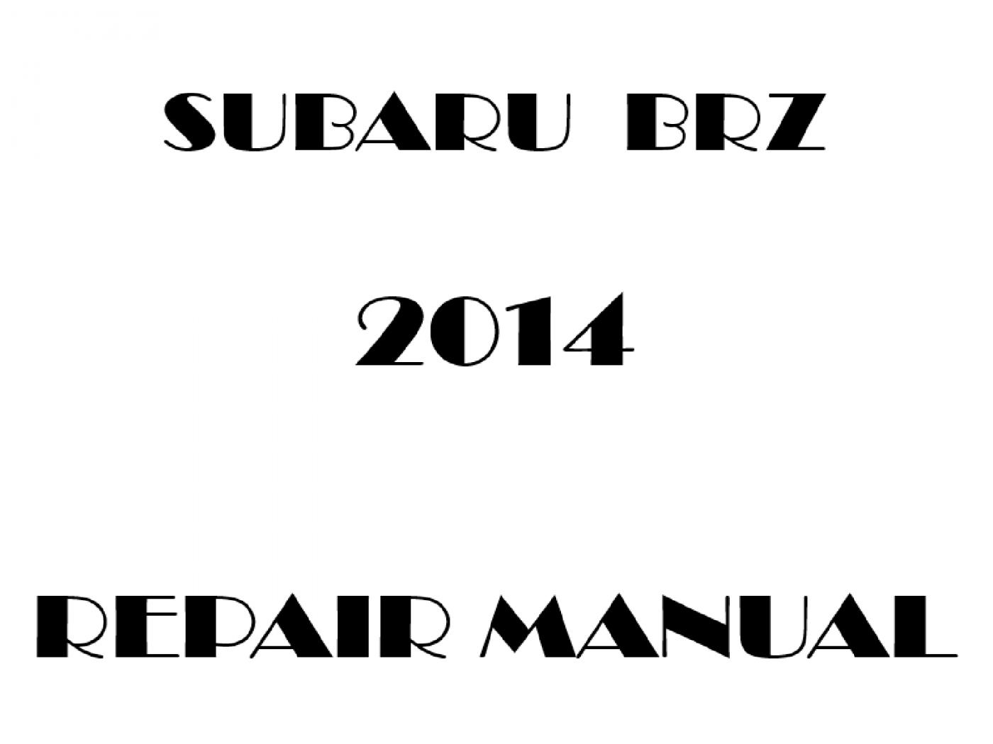 2014 Subaru BRZ repair manual