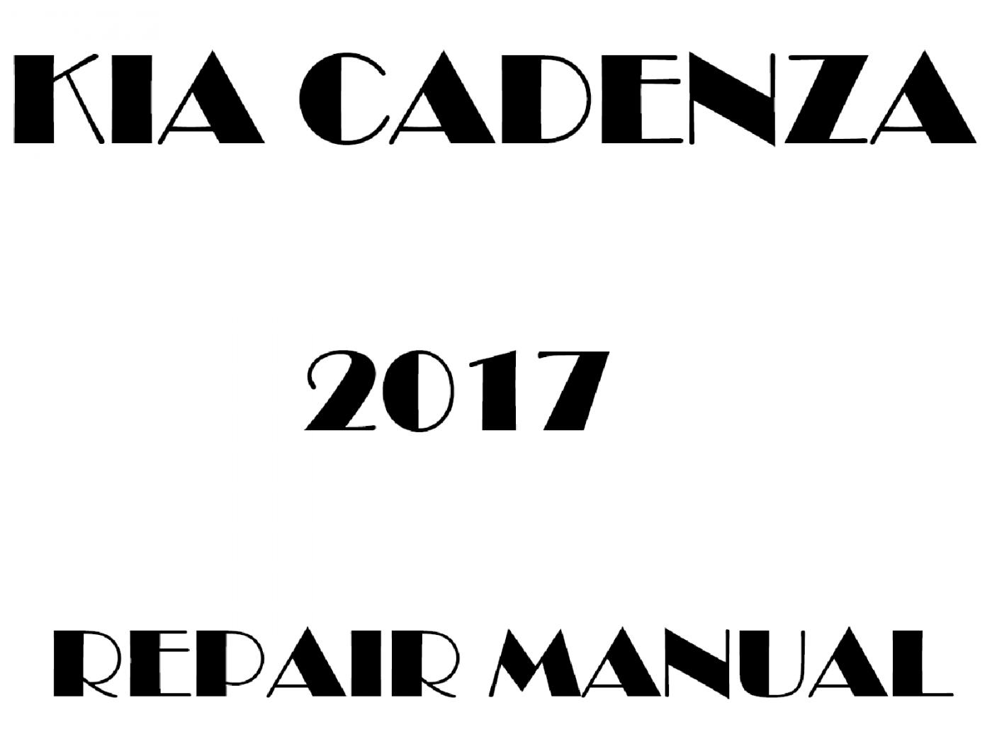 2017 Kia Cadenza repair manual